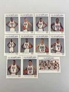 1992 US OLYMPIC DREAM TEAM (11) CARD SET W/ MICHAEL JORDAN, Bird, Magic USA