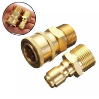 "2PCS M22 3/8"" Quick Release Adapter Connecter Coupling Kit For Pressure Washer"