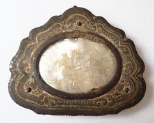 Porte-monnaie camée nacre Diane Artemis 19e s acier damasquiné mother of pearl