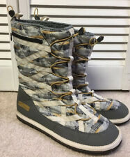 PAKEMS CORTINA SNOW BOOTS SIZE 10 GReY CREAM FAUX FUR LINING