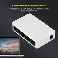 Switch di rete Ethernet Mini 5 Porte Lan Hub RJ45 10/100Mbps Network