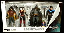 DC Collectibles ARKHAM CITY 4-PACK Box Set BATMAN HARLEY QUINN ROBIN NIGHTWING