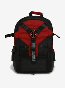 Marvel Deadpool Built-Up Backpack Black and Red Color Combo
