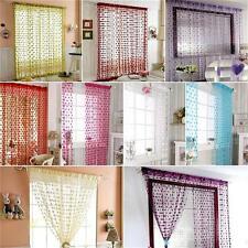 Tassel Window Room Love Heart Curtain Panel Scarf Line String Door Curtains FI