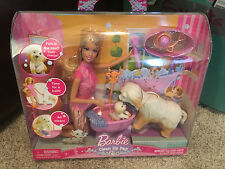 Barbie Clean up Pup NEW in box by Mattel    Barbie and 2 dogs Color change pup