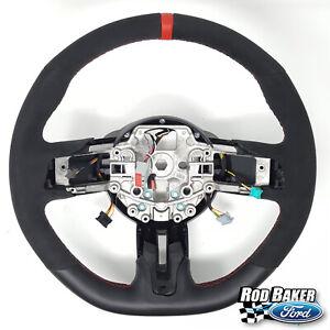 15 thru 17 Mustang OEM Ford Alcantara Suede Steering Wheel Shelby GT350R Red