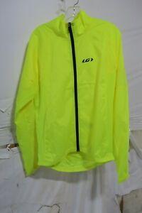 Louis Garneau Modesto Cycling 3 Jacket Men's Large Bright Yellow Retail $69.99
