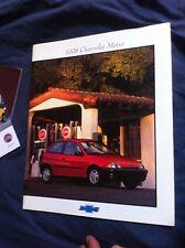 1998 Suzuki Swift Chevroelt Metro USA Market Brochure Catalog Prospekt