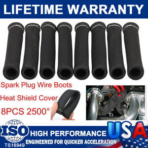 6Inch 1200° Spark Plug Wire Boot Protector Sleeve Cover High Heat Shield For LS1