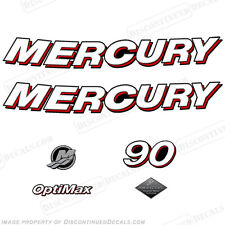Mercury 2006 90hp Optimax Decal Kit - Discontinued Decals for Outboard Engines