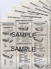 1967 1968 1969 1970 1971 1972 FORD TRUCK F100 150 250 350 PARTS CRASH SHEETS +