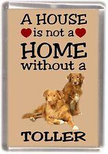 """Nova Scotia Duck Toller Fridge Magnet """"A HOUSE IS NOT A HOME"""" by Starprint"""