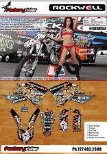 Rockwell Motocross Graphics KTM  SX & SXF 2007-2010 Dirt Bike Decal Sticker Kit