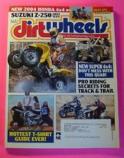 DIRT WHEELS MAGAZINE JULY/2003..NEW HONDA 4 x4..SUZIKI Z-250 FIRST TEST