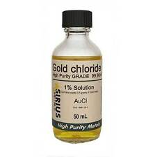 1.725% Gold Chloride (1.0% as 99.997% pure Gold metal) - 100 mL in glass bottle