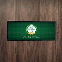 Personalised Happy St Patrick's Day Tartan Luck Of The Irish Design Bar Runner