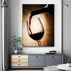 Pouring Wine into Glass 1 PC Canvas Printed Wall Picture Poster Home Decor