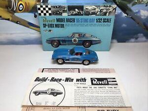 revell model racer scalextric Vintage Slot Car 1:32 65 Corvette Sting Ray Boxed