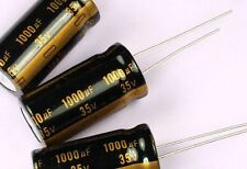12pcs 1000uF 35v 105C Radial Electrolytic Gold Capacitor 13mm X 26mm 5mm Lead