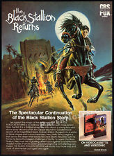 THE BLACK STALLION RETURNS__Original 1983 print AD / movie promo__VINCENT SPANO