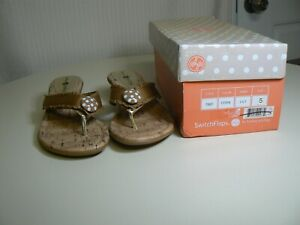 Lindsay Phillips Switchflops Cork Lilly Womens Size 5 Flip Flops Shoes Brown