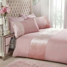 Velvet Cuff Sleepdown Bedding Duvet Cover Set & Pillowcases Single Double King