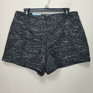 Old Navy Tweed Black & White Lined Dress Shorts Size 10 NWT Women's side zip