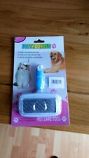 Pet Dog Cat De-shedding Tool Pet Grooming Brush Best Care for Dogs and Cats Blue