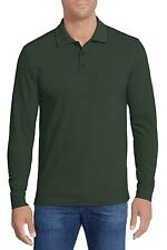NORDSTROM Men\u0027s Shop L/S Oxford Pique Polo Shirt in Green Sz.2XB NWT