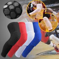 Crashproof Antislip Basketball Leg Knee Long Sleeve Protector Gear Honeycomb Pad