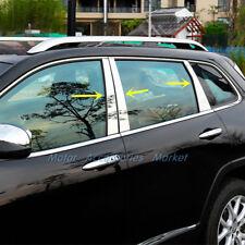 Stainless Steel Window B Pillar C Pillar Chrome Trim for Jeep Cherokee 2014-2017
