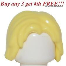 ☀️NEW Lego Minifig Hair Male Boy Yellow Short Light Blonde Thor Girl Surfer