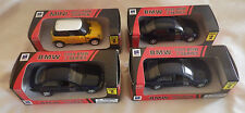 Lot 4 BMW 1999 3 Series Dark Blue 2002 Mini Cooper Yellow 1/32 Diecast Plastic