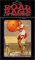 VINTAGE 50'S PIN UP GIRL MODEL ART HOT ROD ROCKABILLY GREASER AUTO AIR FRESHENER