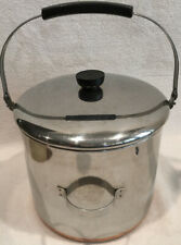 Revereware 8 Qt Stainless W/ Copper Bottom Stock Pot With Bail Handle # 2363973