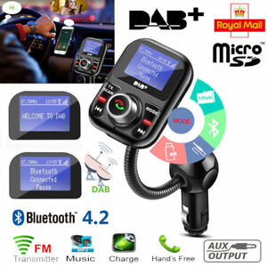 Car DAB+ Digital Radio Receiver Aerial Antenna USB Charger Adapter Bluetooth AUX