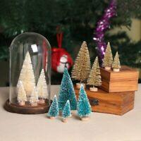 5Pcs Christmas Mini Tree Artificial Small Pine Cedar Party Home Xmas Table Decor
