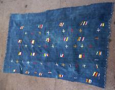 RARE BLUE INDIGO COTTON TEXTILE STRIPWOVEN DOGON CAPE WRAP SKIRT CLOTHING ETHNIX