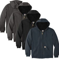 Carhartt Mens Rain Defender Rutland Thermal-Lined Hooded Zip-Front Sweatshirt