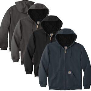 Carhartt Mens Rain Defender Rutland Thermal-Lined Hooded Zip-Front Sweatshirt