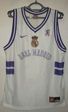 Real Madrid retro basketball shirt jersey mens Nike size L