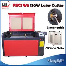 """RECI 130W C02 USB Laser Cutter/Engraver Machine Working 23"""" x 39"""" CW5000 Chiller"""