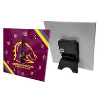 NRL Desk Clock  - Brisbane Broncos - Gift Box - Rugby League - Football