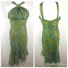 🌹VICTORIA ROYAL Multicolored Paisley Halter Dress Sz 6 1223