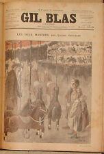 GIL BLAS ILLUSTRE, HEBDOMADAIRE. 1891-1899. 447 NUMEROS SATIRIQUES. STEINLEN.