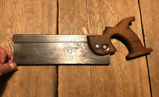 VINTAGE TYZACK SONS & TURNER TENON SAW CARPENTERS JOINERS VINTAGE TOOLS