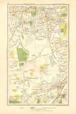 1936 LARGE SCALE LONDON MAP COULSDON, WALLINGTON, CARSHALTON, WOODMANSTERNE
