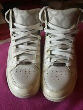 COACH - NORRA BASKETBALL HIGH TOP STREET DESIGNER SHOES WOMENS SIZE 6M White