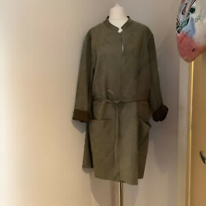 H&M Coffee Coloured Belted Jacket/Coat Size Uk 22