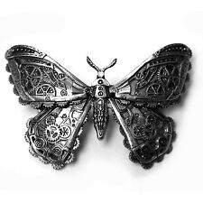 Restyle Mechanical Moth Clockwork Cogs Wings 3D Steampunk Pewter Hair Clip